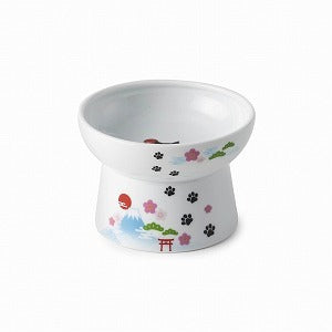 Necoichi Raised Cat Food Bowl (Fuji 2019 Limited Edition)