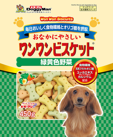 Bowwow Biscuit Green & Yellow Vegetable 450g