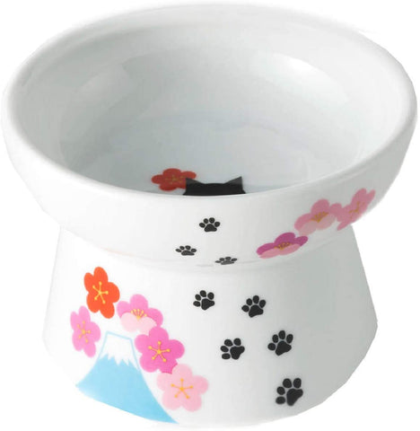 Necoichi Raised Cat Food Bowl Large (Fuji 2019 Limited Edition)