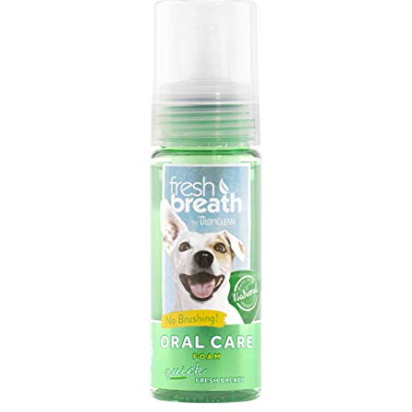 TropiClean Fresh Breath Oral Care Foam 4.5oz