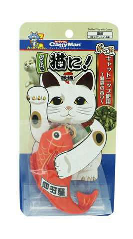 Jareneko Stuffed Toy with Catnip Lucky bream Shaped