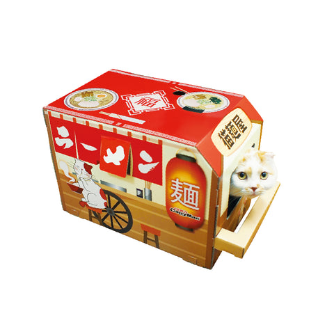 Doggyman Cat Playing Box: Noodle Shop