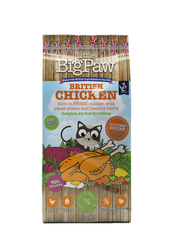 Little Big Paw British Chicken Complete Dry Food for Kittens 1.5kg/3.3lbs