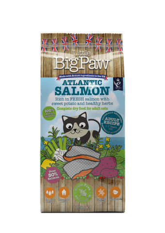Little Big Paw Atlantic Salmon Complete Dry Food for Adult Cats 1.5kg/3.3lbs