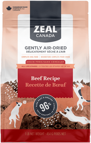 Zeal Canada Gently Air Dried Beef Recipe for Dog 2.2lb