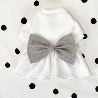 Buyalldog Big Bowtie Dress Grey L