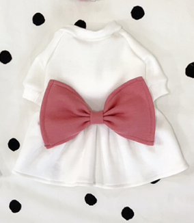 Buyalldog Big Bowtie Dress Pink L