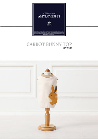 AMYLOVESPET Carrot Bunny Top, M