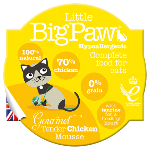 Little Big Paw Gourmet Tender Chicken Mousse For Cats (85g)