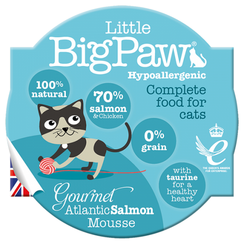Little Big Paw Gourmet Atlantic Salmon Mousse For Cats (85g)