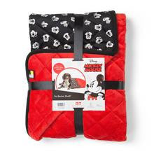 Mickey Pet Throw Blanket Black/Red, 30x40