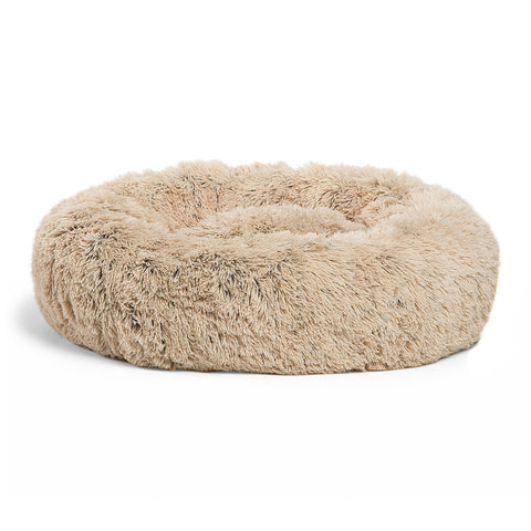 Donut Bed Shag, Taupe, 23x23