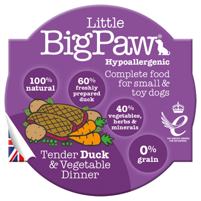 Little Big Paw Dog Duck and Veg 85g/3oz