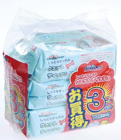 Wet Tissue for Pets 70pcs 3 bags