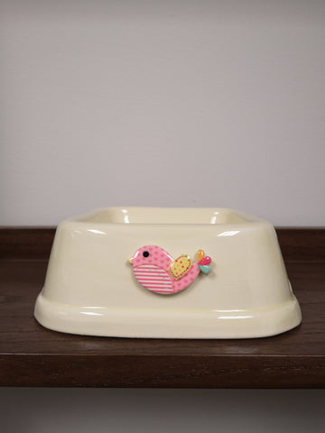 P115 Sweet Bird Bowl Ivory