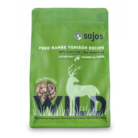 Sojos Wild-Venison Dog Food 1lb