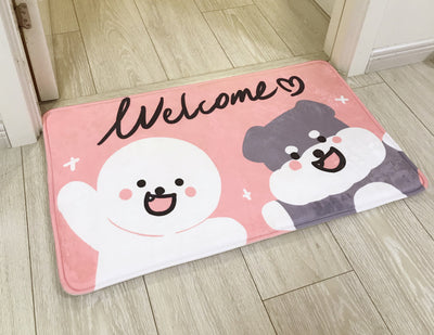 LA WEST Door Mat Pink