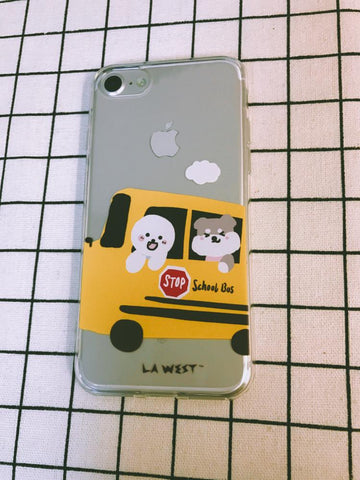 Phone case School Bus Painted
