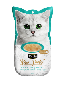 Kit Cat Purr Puree Tuna & Fiber (Hairball) 60g