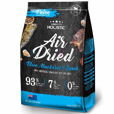 Absolute Holistic Air Dried Diet Blue Mackerel & Lamb 1 kg
