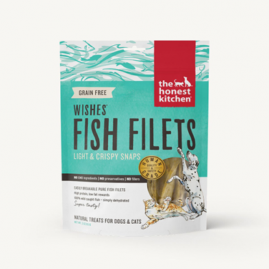 THE HONEST KITCHEN® WISHES® GRAIN FREE LIGHT & CRISPY FISH FILETS 3 oz