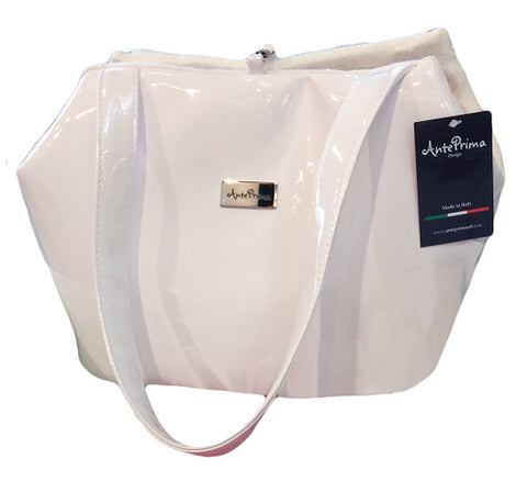 Bag - TRISS WHITE/LINEN FLOWER Small