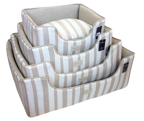 Bed - ATHENAIS WHITE JACQ STRIPES Medium