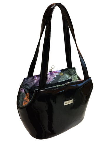 Bag - TRISS BLACK/FIORI VELLUTO Small
