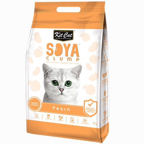 Kit Cat Soybean Litter Soya Clump Peach 7L