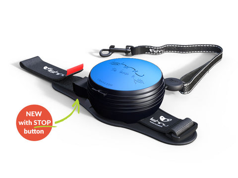 Lishinu 2 New Version with Stop Button (Tape) (M) Hands-Free Retractable Leash