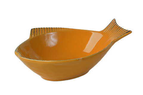 One for Pets Yellow Fish Shape Bowls - Yellow - Small
