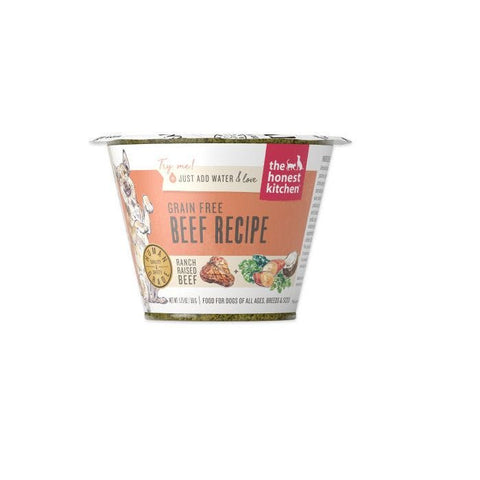 THE HONEST KITCHEN® GRAIN FREE BEEF RECIPE DOG FOOD SINGLE SERVE CUPS 1.75 OZ
