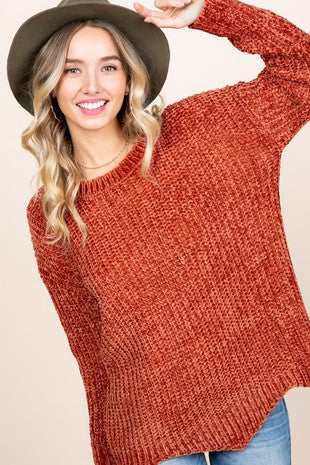 Chenille Fall Sweater