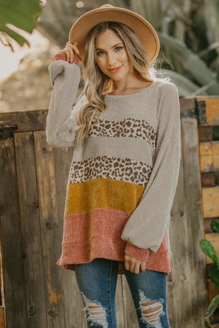 Cheetah Chenille Sweater