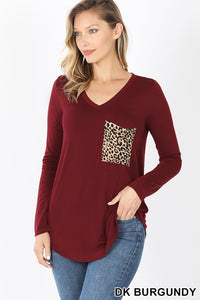 BF Cheetah Pocket Top