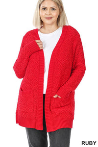 Holiday Popcorn Cardigan