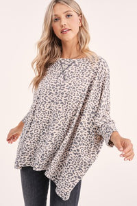 Grey Cheetah Blouse