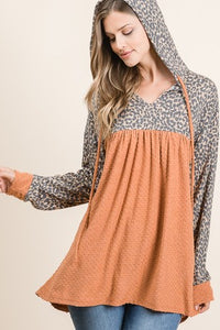 Hooded Cheetah Blouse