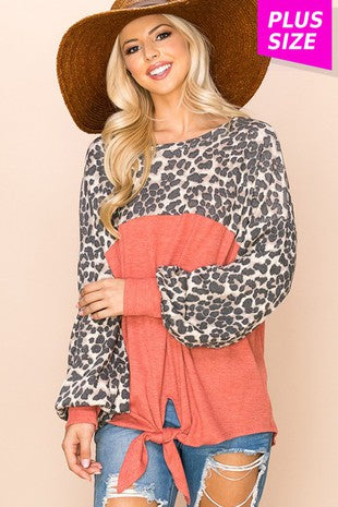 Cheetah Knotted Top