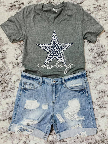 Cowboys Leopard Star Tee.