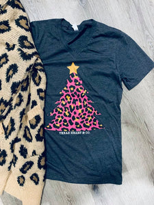 Pink Leopard Christmas Tree