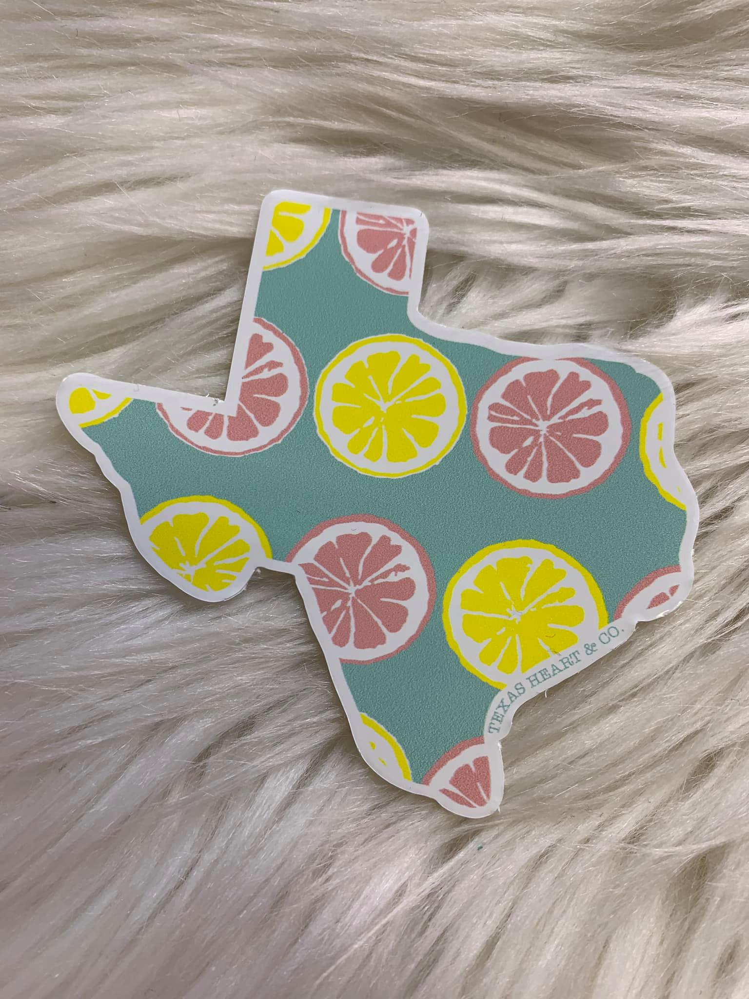 lemon texas decal