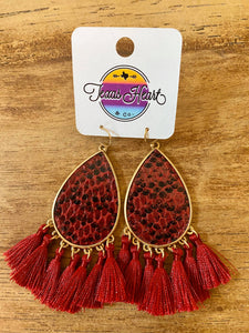 Red Snake Earring