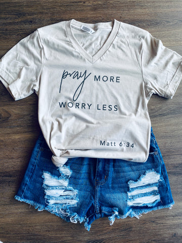 pray more. worry less.