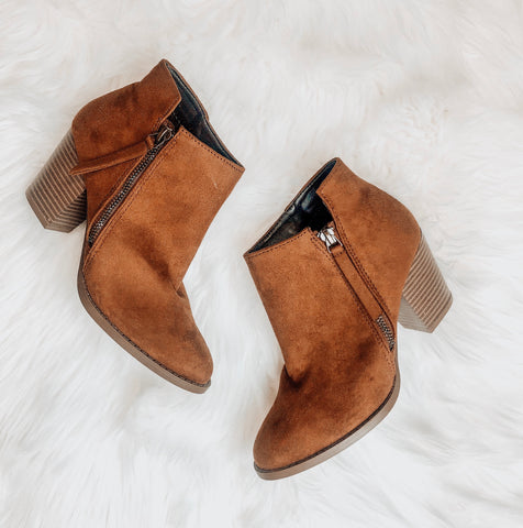 Step To It Booties (chestnut)