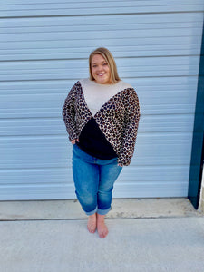 Cheetah Chevron Sweater