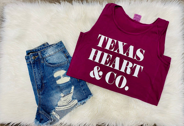 Texas Heart & Co. logo tank