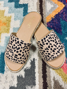 Cheetah Slide Sandals