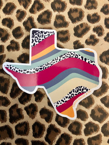 Texas Waves Decal