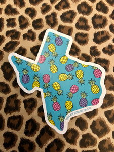 Pineapple Texas Decal